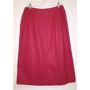 ANN TAYLOR NWT Sz 10 Red A-Line Wool Blend Skirt